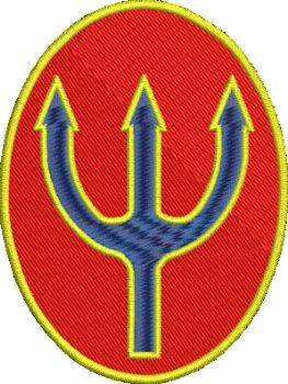 Trident Embroidered badge